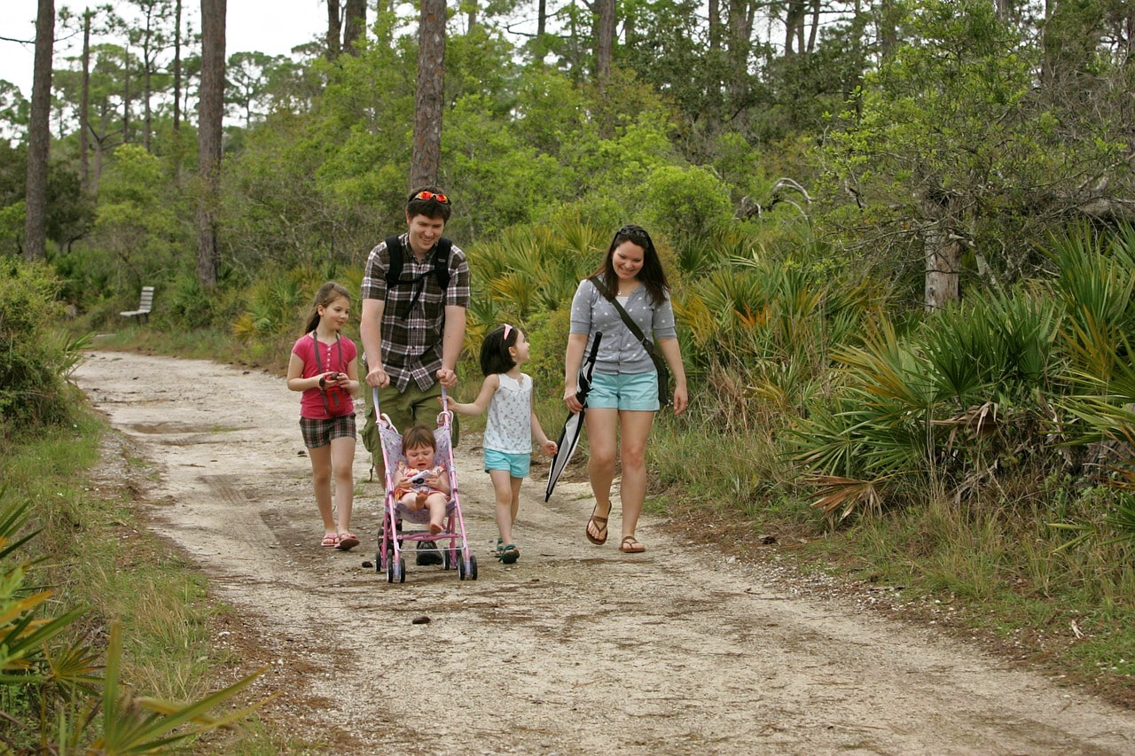 get outside baby with families